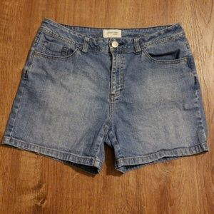 St. John's Bay Stretch Jean Shorts Size 10